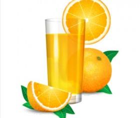 Fresh orange juice vector material 01