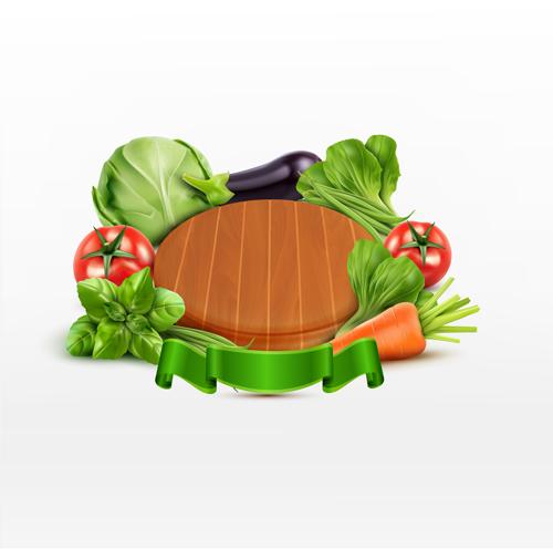 Fresh vagetables background art vector 01