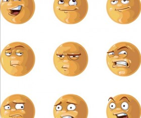 Funny emoticons Icons set vector