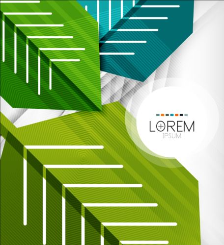 Geometric shapes with abstract business template vector 01