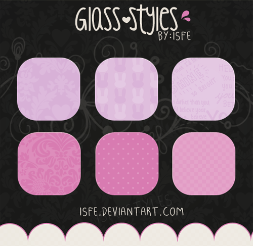 Glass Photoshop Styles pack