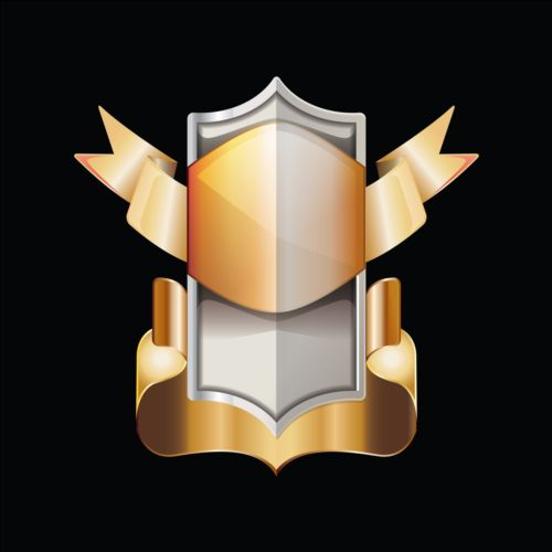 Golden royal badge luxury vector 03