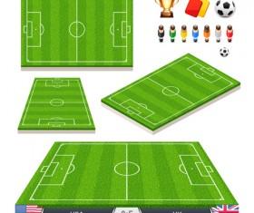 Green football field vector design 02