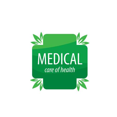 Green medical health logos design vector 02