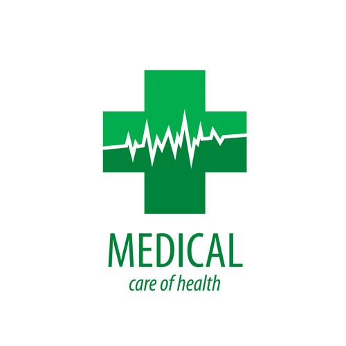 Green medical health logos design vector 09