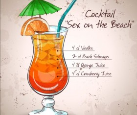 Hand drawn cocktail design vectors set 06