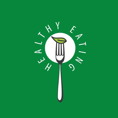 Healthy eating logo design vector set 04