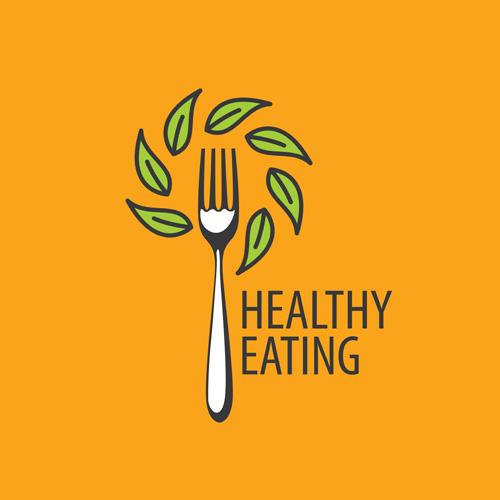 Healthy eating logo design vector set 06
