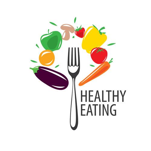 healthy eating logo design vector set 12 free download