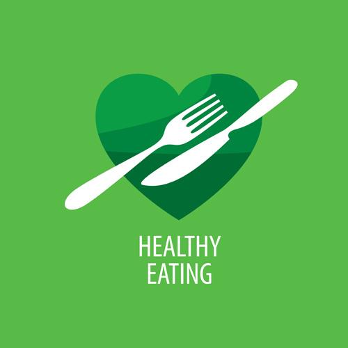 Healthy eating logo design vector set 13