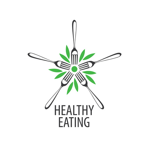 Healthy eating logo design vector set 14