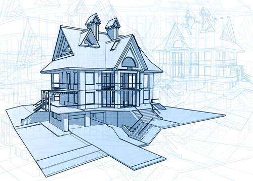 House building blueprint design vector 04 vector architecture house building blueprint design vector 04 malvernweather Images