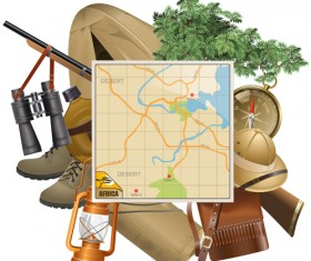 Hunting with map vector