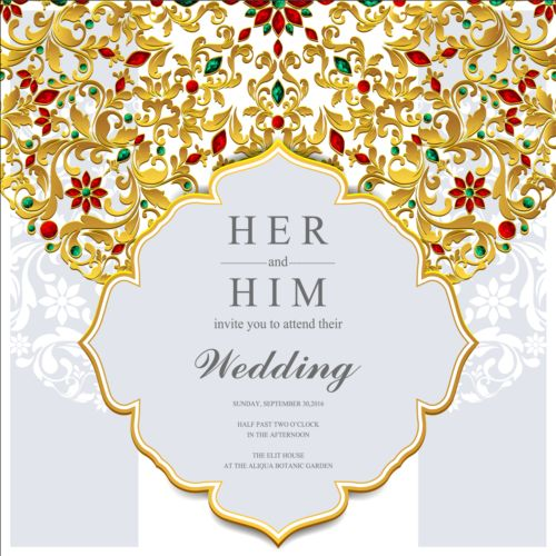 jewelry decoration with wedding cards vector 10 free download