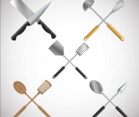 Kitchen tools vector illustration set 11