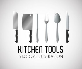 Kitchen tools vector illustration set 12