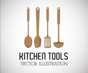 Kitchen tools vector illustration set 13
