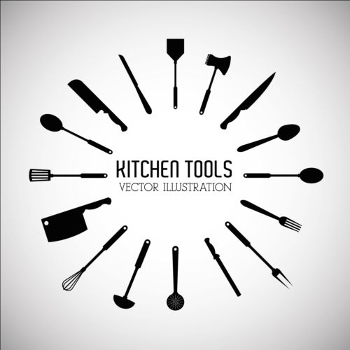 Kitchen Tools Vector Illustration Set 14 Vector Life