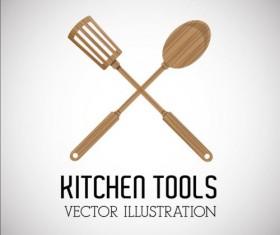 Kitchen tools vector illustration set 15