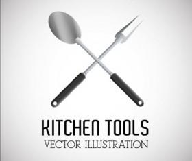 Kitchen tools vector illustration set 16