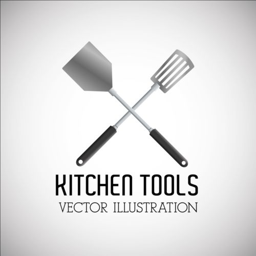 Kitchen tools vector illustration set 17