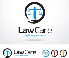 Law Care logo vector