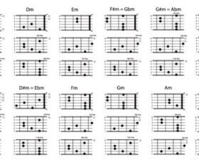 Major Chords chart vector material 02