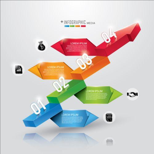 Media infographic creative design vector 06