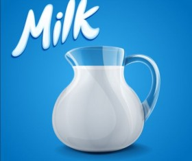 Milk dripping vector backgrounds 03