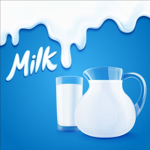 Milk Dripping Vector Backgrounds 04 Vector Background