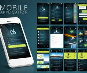 Mobile application theme design vector 01