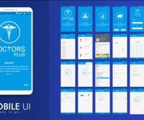 Mobile application theme design vector 04