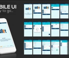 Mobile application theme design vector 05