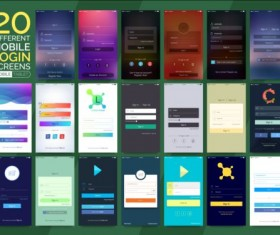 Mobile application theme design vector 06