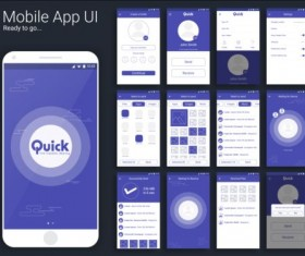 Mobile application theme design vector 08