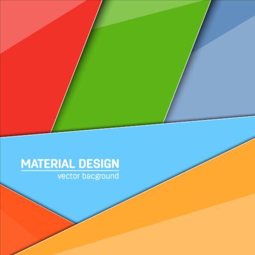 Modern material design background vector 05