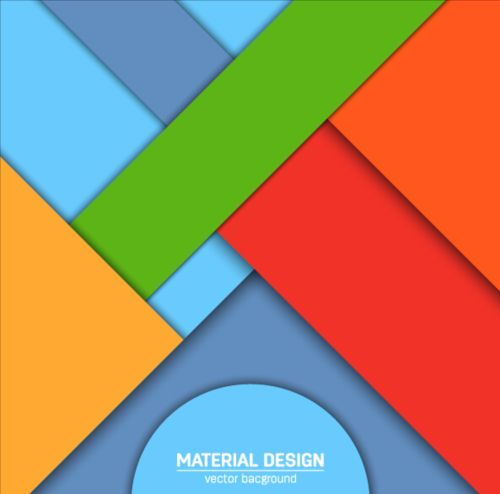 Modern material design background vector 08 free download