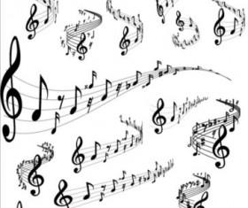 Music notes design elements set vector 04