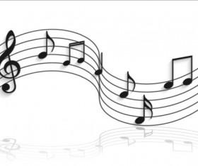 Music notes design elements set vector 08