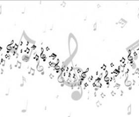 Music notes design elements set vector 09