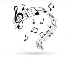Music notes design elements set vector 10