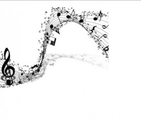 Music notes design elements set vector 12