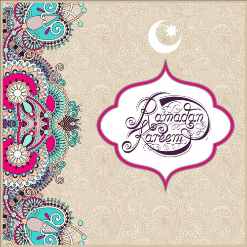 Muslim styles ramadan kareem background vector 12 free download