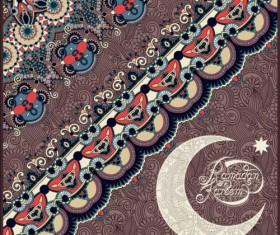 Muslim styles ramadan kareem background vector 13