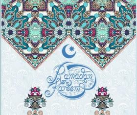 Muslim styles ramadan kareem background vector 14