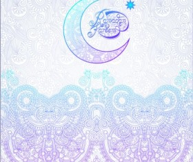Muslim styles ramadan kareem background vector 15