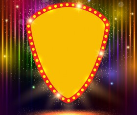 Neon label with shininy background vector 05