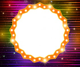 Neon label with shininy background vector 09