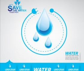 Now save water publicity template design 01