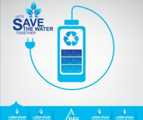 Now save water publicity template design 02